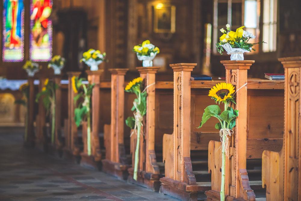 Słoneczniki w kościele