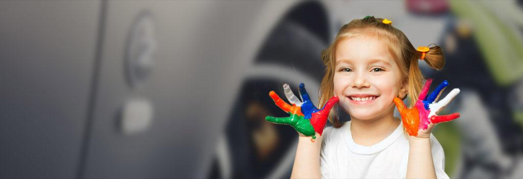 Pomalowane dziecko
