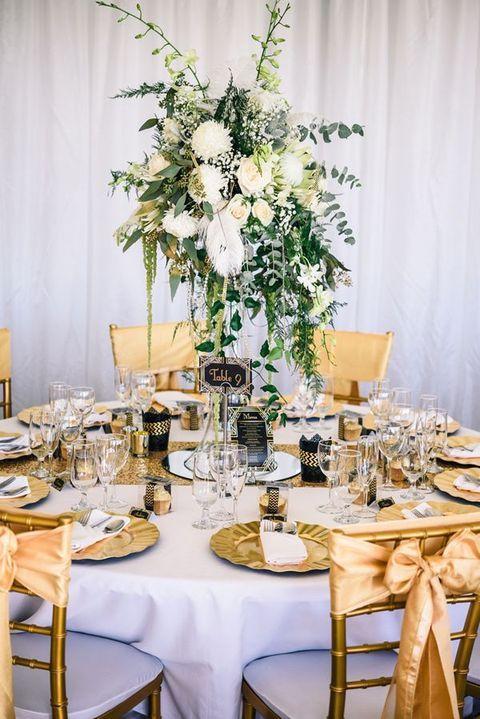 ślubne Inspiracje Złote Dodatki Na Weselnym Stole ślub I Wesele
